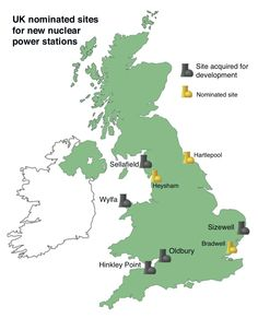 UK new build plans for nuclear power plants