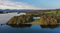 Explore the rooms, public spaces, and beautiful lakeshore grounds in this immersive photographic tour. Lake District Hotels, Georgian Mansion, Mansions Homes, Windermere, Public Spaces, Rooms, River, Explore, Outdoor