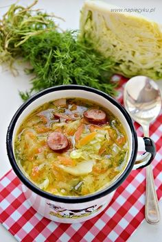 Soup Recipes, Cooking Recipes, Polish Recipes, Polish Food, Cheeseburger Chowder, Curry, Good Food, Food And Drink, Lunch