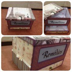 Olhem que graça esta caixa de remédios! Bem diferente de todas caixas que já vi para esta finalidade. Parabéns a artesã que fez!