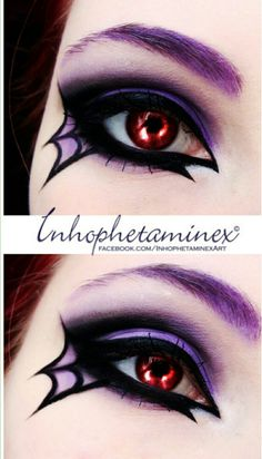 Halloween makeup, Halloween spiderweb eyeliner tutorial, halloween makeup videos - Beauty To Die For - Halloween Makeup Videos, Halloween Makeup Witch, Halloween Looks, Spider Witch Makeup, Halloween Nails, Halloween Stuff, Halloween Contacts, Scary Halloween, Halloween Ideas