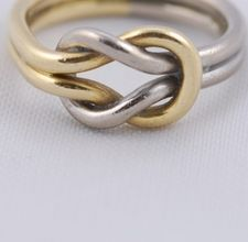 Metal clay knot ring.