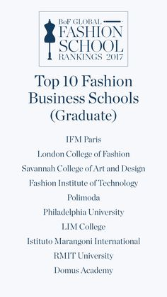 The Top 10 Global Graduate Fashion Business Courses in 2017