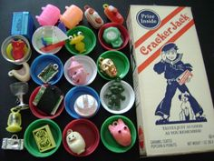 "What Cracker Jack & prizes used to look like.  The ""prizes"" now days, umm, suck."