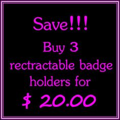 Retractable ID Badge Holders 3 for 20.00  Badge Clip by Laa766 chic / cute / preppy / fabric / patterned / accessories / for you, co-worker or school gifts / home, office decor