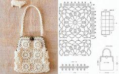 Crochet Knitting Handicraft: Handbags crocheted