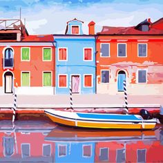 Oil Painting: Color by Number Paint By Number, Home Art, Fair Grounds, Mansions, Digital, House Styles, Pictures, Travel, Art Houses