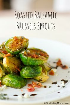Roasted Balsamic Brussels Sprouts #paleo #cleaneating