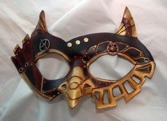 SteamOwl Leather Steampunk Owl Cosplay Mask by PlatyMorph on Etsy, $70.00