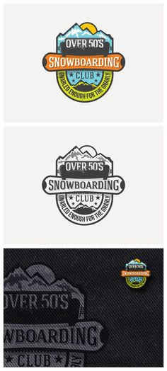 Logottica featured logo Over 50s Snowboarding by ninet6