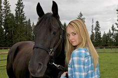 Amy Fleming - played by Amber Marshall. - - - Amy has a gift of being able to connect with horses that she inherited from her mother Heartland Season 8, Heartland Tv Show, Ty And Amy, Amber Marshall, Horse Ranch, Film Serie, Show Horses, Hd 1080p, Favorite Tv Shows