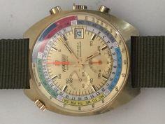 Wakmann vintage day date chronograph Regate Regatta Yg #Wakmann #Sport