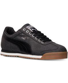 Puma Men's Roma Waxed Denim Citi Series Casual Sneakers from Finish Line