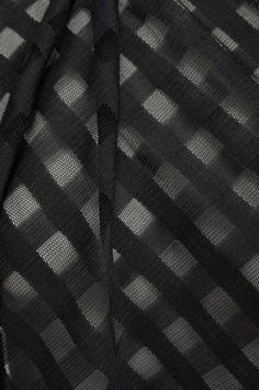 Marcy Tilton - Mesh, Lace and Net - Black Squares Mesh detail