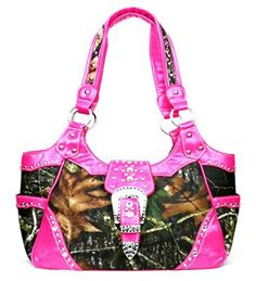 Western Pink Camouflage Buckle Concealed Purse - Handbags, Bling & More!