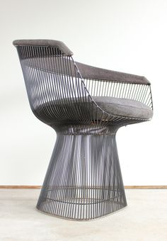 Introduced in 1966, this fine and rare example of Platner's sculptural arm chair dates to the earliest years of production.
