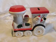 Norcrest Christmas Train Bank, Christmas Train Bank, Holiday Locomotive Bank, Christmas Decor