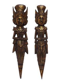 Casal Rama e Sita em Madeira 60cm - Bali - http://www.artesintonia.com.br/casal-penapata-em-madeira-p-decoracao-de-paredes-60cm-bali