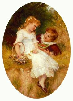 CHILDHOOD SWEETHEARTS by Frederick Morgan (1856 - 1927).