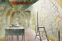 No 1 Map Corridor, 1940 by Eric Ravilious