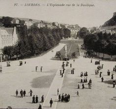 Lourdes France Unused Vintage French Postcard by ChicEtChoc, $5.00