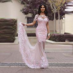 Barato Arábia Árabe Ver Através Sereia Rosa Prom Vestidos Manga Comprida Dubai Kaftan Vestidos de Noite Vestido de Festa Longo Mulheres Abendkleide, Compro Qualidade Vestidos do baile de finalistas diretamente de fornecedores da China:   arábia Árabe Ver Através Sereia Rosa Prom Vestidos Manga Comprida Dubai Kaftan Vestidos de Noite Vestido de Festa Long