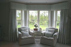 Gorgeous Bedroom Curtains near Farnham by Melanie Downing Interiors
