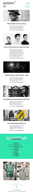 Cultural Trend Lisbon newsletter made with MailerLite