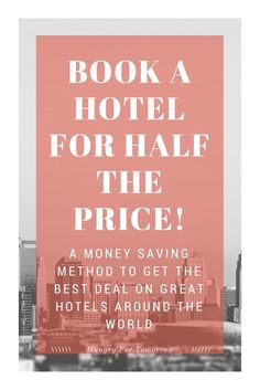 A guide on how to save money on your next hotel vacation. Get the cheapest price on 4 and 5 star hotels in the hottest cities around the world!