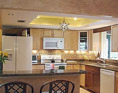 idea for our kitchen where the old flourescent lighting was. | for