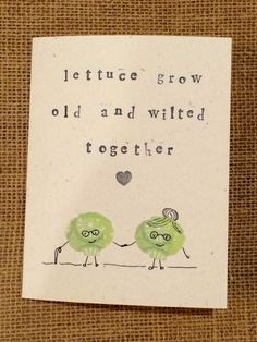 Lettuce Valentine Card by GidgetAndKacy on Etsy, $4.25