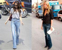 Prendas de la temporada: front pocket flare jeans Chloe, Prada, Flare Jeans, Bell Bottoms, Bell Bottom Jeans, Mom Jeans, Fashion Ideas, How To Wear, Pants