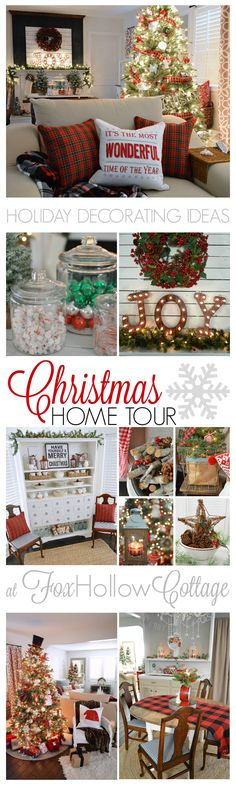 Christmastime at Fox Hollow Cottage. Visit this 1920's cottage home, decorated…