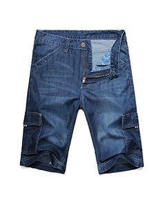Men's Summer Wear Thin and Soft Jean Cargo Shorts - http://www.darrenblogs.com/2017/01/mens-summer-wear-thin-and-soft-jean-cargo-shorts/