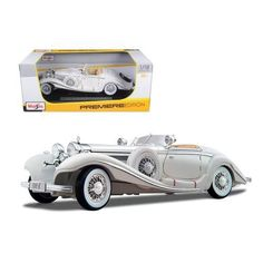 1936 Mercedes 500K Special Roadster White 1/18 Diecast Model Car by Maisto