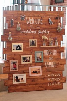 honestly, would be so fun to set this out at the front somewhere. an intro into us and our day // wedding_BGV_T On Your Wedding Day, Wedding Season, Diy Wedding, Rustic Wedding, Wedding Welcome Board, Welcome Boards, Wedding Mallorca, Wedding Themes, Wedding Decorations