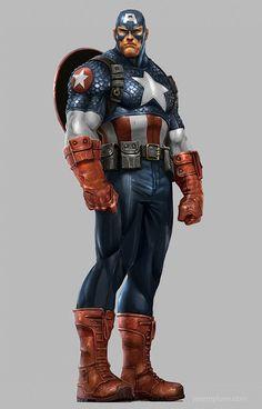 Avengers Game Concept Art: Captain America