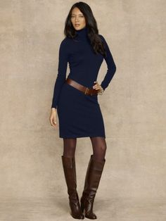 Cashmere Turtleneck Dress -   Dresses - RalphLauren.com