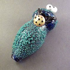 Glass Pipe - Custom Munchie Monster -Hedcraft Glassworks-