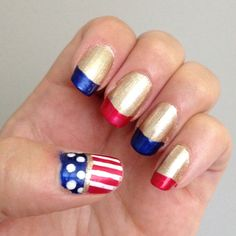 Olympic nails: step one.