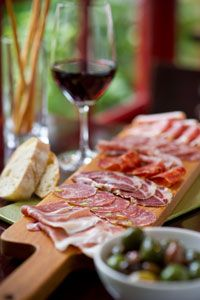 Our favorite place for the best Antipasto either at home from Salumeria Luca or in town at Cantinetta Luca - Carmel