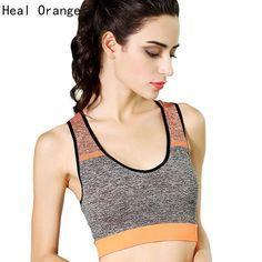 68bd656d660b5 Women Yoga Sports Bra For Running Top Gym Wire Free Shake Proof Underwear  Push Up Seamless