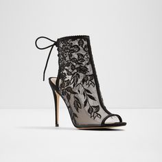 Kerisen Shoe in Midnight Black at Aldo Shoes High Heels Stilettos, Stiletto Heels, Heeled Boots, Bootie Boots, Funky Shoes, Sneaker Heels, Sock Shoes, Womens High Heels, Open Toe