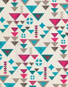 Hipster Patterns Tumblr | thenewdomestic:Triangle pattern | Dante Terzigni Illustration
