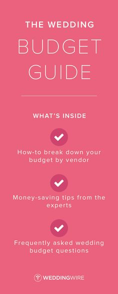 Prevent overspending on your wedding. Sign up for access to our budget guide & get access to other great planning tools!