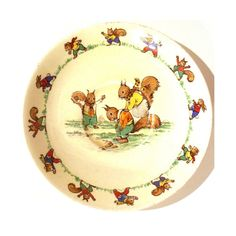 Rare Vintage Ridgway Jolly Jinks Nursery by TheLittleWhiteHare 1930s House, Red Squirrel, Tea Set, 1950s, Porcelain, Nursery, Pottery, Plates, Memories