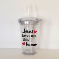 Jesus Loves Me Song Lyrics Personalized Acrylic by SweetSipsters, $12.00