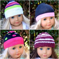 Hey, I found this really awesome Etsy listing at https://www.etsy.com/listing/257977685/beanie-hats-caps-american-girl-doll