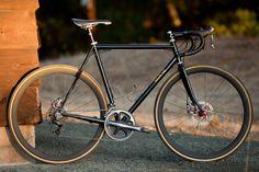 "Beautiful Bicycle: Eric's Black Cat Disc Road. ""Push the saddle back a bit Eric!""-->"