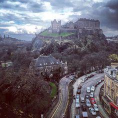 """Room with a view. #edinburgh #edinburghcastle #thecaledonian #scotland"""